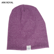 Ark Royal Cute Solid Knitted Cotton Hats For Newborn Baby Children Autumn Winter Warm Earmuffs Colorful Crown Caps Skullies(China)