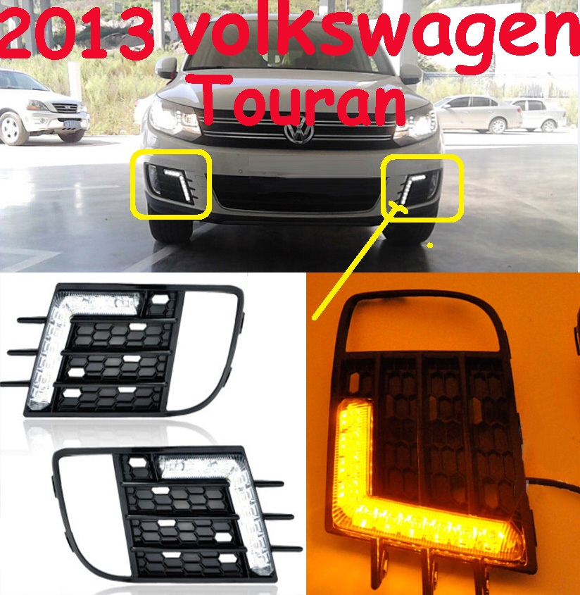 Car-styling,Tiguan daytime light,2013~2015,chrome,LED,Free ship!2pcs,car-detector,Tiguan fog light,car-covers,Touran,Tiguan<br>