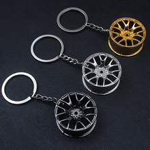 10pcs/lot Car Styling Metal Keychain Cool Luxury Wheel Hub Key Ring Fit For BMW VW Audi Toyota Honda Ford Key Holder Accessories