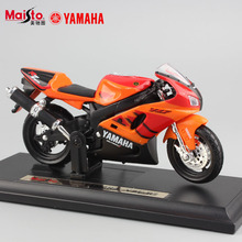Hot Boys 1:18 scale kid's metal tank Diecast motorcycle YAMAHA YZF-R6 R1 R7 bicycle model toys moto miniature car for collection