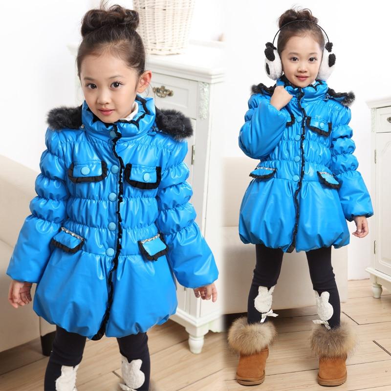 Free shipping New girls winter with thick cotton-padded clothes collars cotton-padded jacket of the girlsÎäåæäà è àêñåññóàðû<br><br>