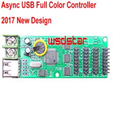 Cheap Async USB full color controller 832*32 512*48 4*HUB75B Design for small size LED display Mini RGB LED controller