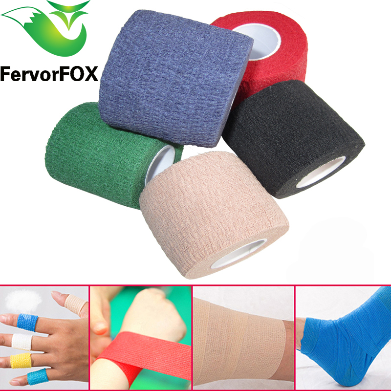 5CM*4.5M Colorful Sport Elastoplast Athletic Kinesiology Elastic Bandage Self Adhesive Wrap Ankle Knee Arthrosis Protector