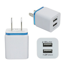 Home Travel Dual Port AC USB Wall Charger for iPhone for Samsung Galaxy High Quality  travel Charging Chargers Wholesale