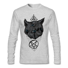 New Brand Crew Neck For Man Janus Satan Cat T Shirt Printing Great Discount Men O-Neck T Shirt