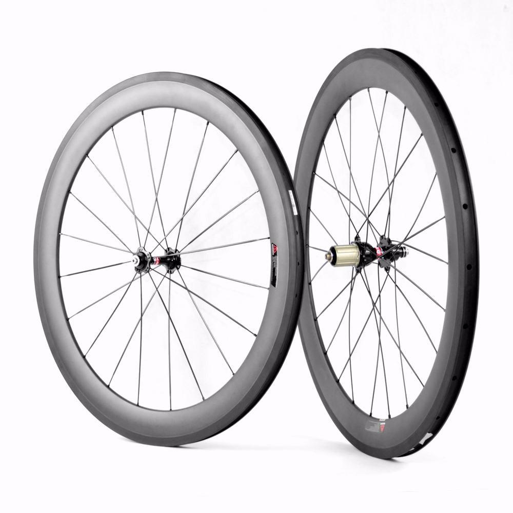 700c 60mm clincher carbon road bike wheelset for Shimano Sram or Campagnolo