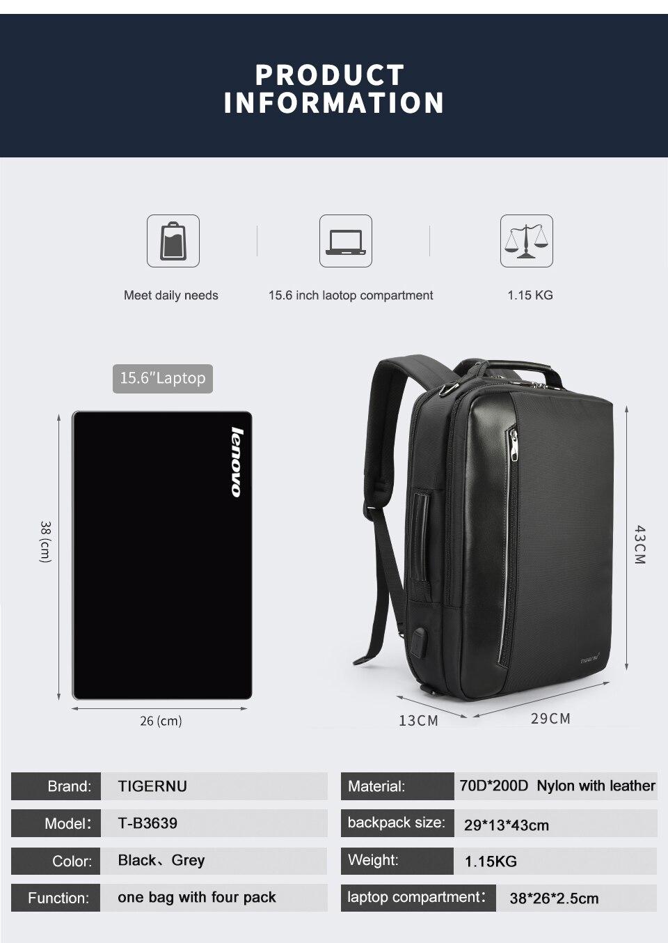 5.laptop backpack for men
