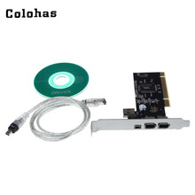 PCI to 6-Pin / 4-Pin IEEE 1394 Controller Card with Firewire Cable for Digital Camera DV Camcorders Hard Disks Removable Drives(China)