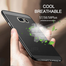 ZNP Luxury Heat dissipation PC Cases For Samsung Galaxy S8 S7 edge Case S8 Plus Full Cover Case For Samsung S8 S7 Protect shell