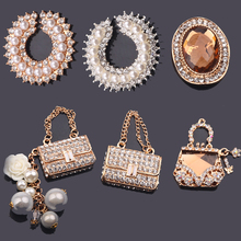 4pcs/lot Cell Phone DIY Rhinestones Alloy Handbag Decoration Charms AC025(China)