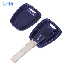 Dandkey All New Replacement Chip Key Blank Car Key Shell For Fiat For TPX Chip SIP22 Blade Without Chip With Logo