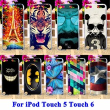 AKABEILA mobile phone Cases for Apple iPod Touch 5 Covers 5th 5G Touch 6 6th Bags Protector sheath Captain America BatMan