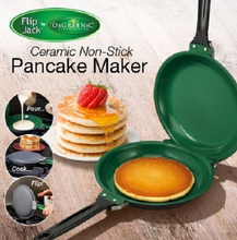 Brand New Ceramic Green Non-stick Pancake Shapes Maker Griddle Fry Pan As Seen On TV Free Shipping