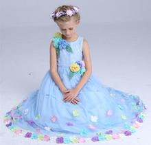 Childrens evening gowns cinderella dress formal dress baby princess party dresses for teenagers child cinderella costumes girls(China)