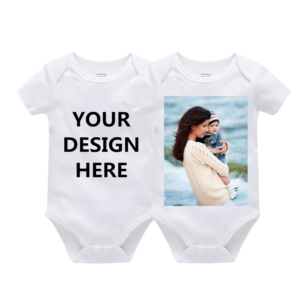 Bodysuits Long-Sleeve Customization Newborn-Baby Baby-Girl Personalized Infantile Boy title=