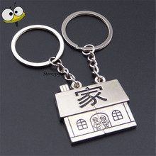 Creative Keychain House I Want To Have a Home Bags Auto Key Ring Car Styling For Dodge Hyundai Toyota Jaguar Peugeot Suzuki Jeep(China)