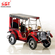Classic retro iron metal car model decoration ornaments Home Furnishing tin vintage car models nostalgic gift decoration room(China)