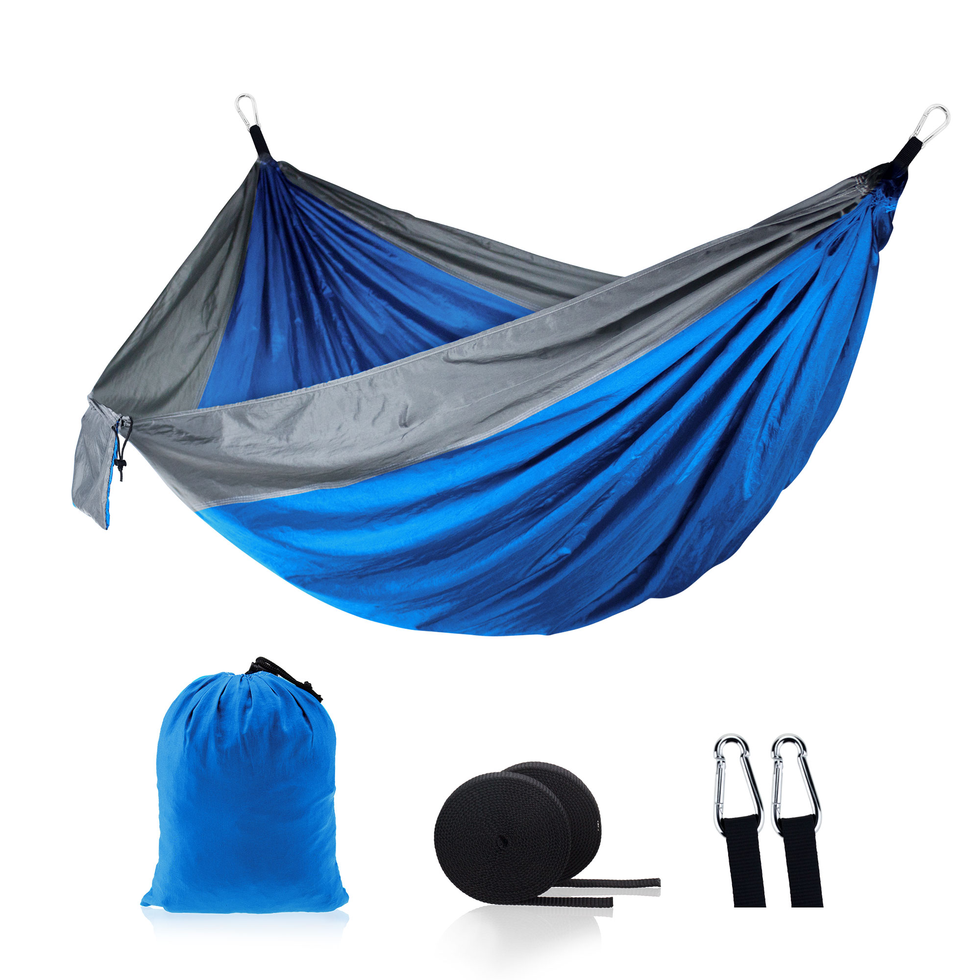 Fabric Hammock Swings Ultralight Outdoor Parachute Camping Nylon Portable 2-Person Rain title=