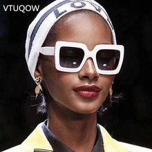 2019 Nova Tendência de óculos de Sol Quadrados Shades Retro Feminino Óculos  De Sol Senhora Óculos 16661db72d