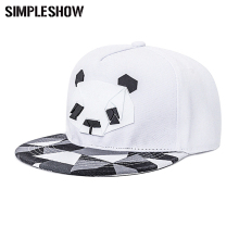 2017 New Fashion Snapback Cap For Men Women Snapback Hat Outdoor Hat Style Baseball Hat Cap Cute Panda Baseball Cap Adjustable(China)