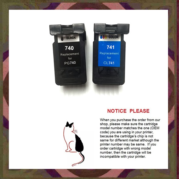 PG-740 PG740 PG740XL CL741 Remanufactured Ink Cartridge PG-740XL CL-741XL for Canon MG2170 MG3170 MG4170 MX517<br>