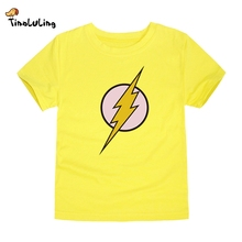 TINOLULING 2017 Kids Flash T-Shirt Boys Girls Superhero T Shirt Children Tops Baby Tees For 2-14 Years