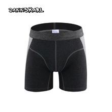New Style High quality fashion men's boxers Protruding Lengthen Straight Male Cotton shorts Pants men underpants(China)