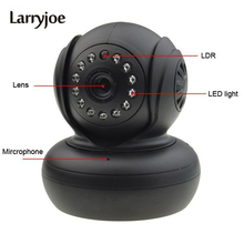 Larryjoe High Quality IP Camera WiFi WPA Network Webcam P2P Wireless CCTV Camara IP Internet for Home Security Surveillance(China)