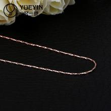 C002 China design fashion woman simple gold color delicate clavicle chains circle bar long necklace womens jewelry colar(China)