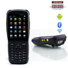 "Bluetooth 1D 2D Handheld Laser Barcode Scanner USB Android Rugged mobile Data Terminal 3.5"" PDA NFC 3G Data Collector 1SIM Card(China)"