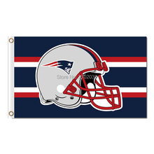 New England Patriots Flag Red Helmet Football Sport Team Banner World Series Super Bowl Champions Banner(China)