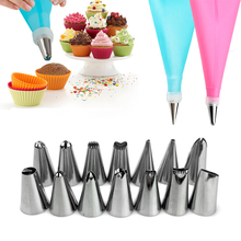 New Practical 16Pcs/set DIY 31cm Length Silicone Ice Piping Cream Pastry Bag Cake Decorating Squeeze Cream Cake Baking Tools(China)