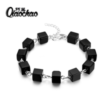 Woman black Crystal Bracelets Bangles Korean Style Multilayer Charm BUDDHA Bracelets For Women 2017 Bring Good Luck s241