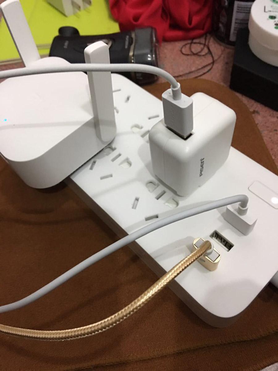 Original Xiaomi Smart Power Strip 2.1A Fast Charging 3 USB Extension Socket Plug 6 Standard Socket Adapter (37)