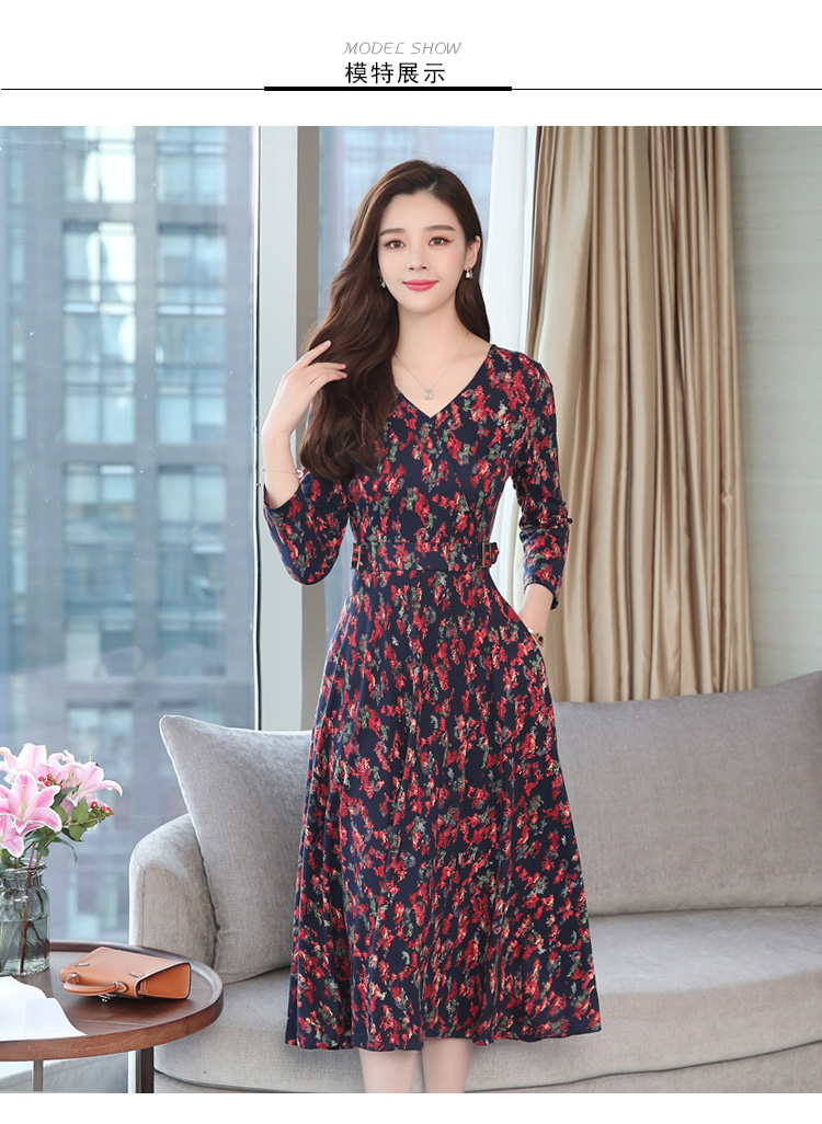 Autumn Winter New 3XL Plus Size Vintage Midi Dresses 2018 Women Elegant Bodycon Floral Dress Party Long Sleeve Runway Vestidos 23 Online shopping Bangladesh