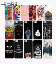 Lavaza 4G Colorful Printing Hard Case Cover for iPhone 8 X 7 7 plus 4 4s 10 5 5s 5c SE 6 6s Plus case cover(China)