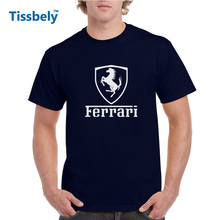 Tissbely Cotton Men Ferrari Formula 1 T Shirt Ferrari Team for Men Print Graphic Tees Shirts Men F1 Game Fans Tops(China)