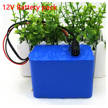 100% New Protection Large capacity 12 V 10Ah 18650 lithium Rechargeable battery pack 12v 10000 mAh capacity(China)