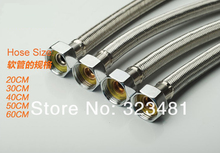 1pc 80cm 304 Stainless Steel Braided Hose for Toilet/Faucet/Heater Plumbing Hose Bathroom Accessoriess Free Shipping(China)
