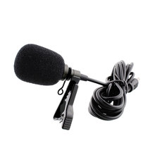 Portable Mini MIC External Clip-on Lapel Lavalier Clip Microphone microfone lapela yaka mikrofonu For Phone Recording PC New