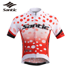 Buy SANTIC Short Sleeve Cycling Jersey Summer Quick Dry Riding Top Shirts Road MTB Bike Bicycle Jersey Maillot Ciclismo S-3XL for $35.18 in AliExpress store