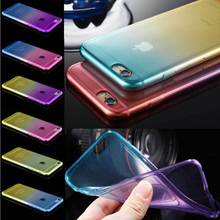 Cute Luxury Double Color Soft Case For Iphone 6 6S 7 4.7 Silicone Clear Case Super Flexible Slim Transparent Cover Back 6S Plus