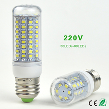 10X 30 36 48 56 69 89 LEDs E27 220V LED Corn lamp Chandelier Bulb Replace CFL (7W 12W 15W 20W 25W 30W) Compact Fluorescent Light
