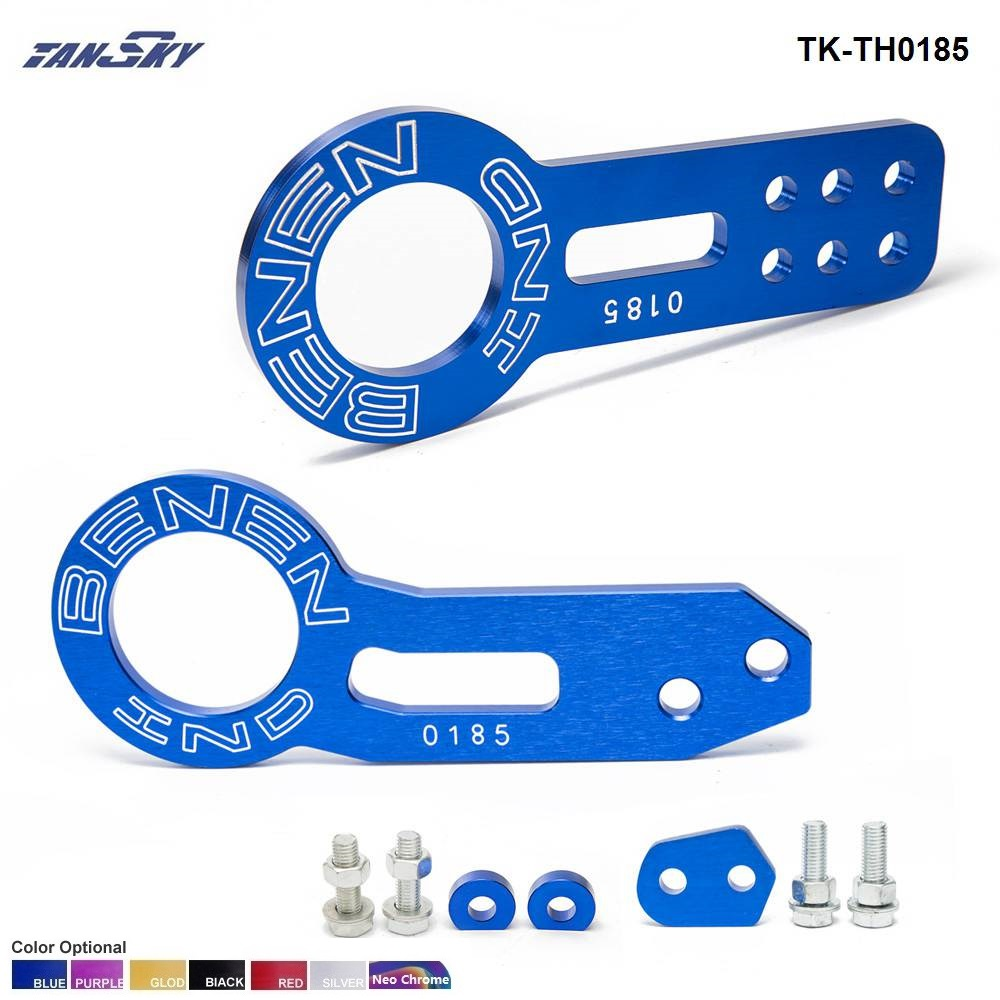 TANSKY - Anodized Universal Front+Rear Tow Hook Billet Aluminum Towing Kit For JDM Racing TK-TH0185