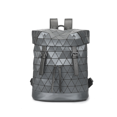 Laser Bucket Matte Backpack Geometric Shoulder Bag Students School Bag BAOBAO Frosted Texture Backpack <br>
