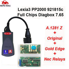 Factory sale ! PP2000 V25 Lexia3 Lexia-3 V48 Diagbox 7.65 Serial 921815C With Original Full Chip Lexia 3 PP2000  Diagnostic Tool