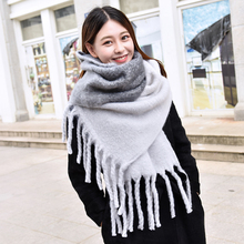 Ladies Warm Scarves Cashmere Capes Thick Winter Scarf Pashmina Soft Female Tassel Wool Scarves For Women Sciarpa Donna(China)