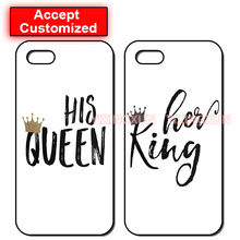 Her King His Queen Lovers Case Cover for LG G2 G3 G4 G5 G6 iPhone 4 4S 5 5S SE 5C 6 6S 7 8 Plus X iPod Touch 5 Sony Z2 Z3 Z4 Z5(China)