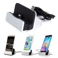 2 in 1 Holder and Charger, Multi-function Desktop Mobile Phone Charger Station Desk Holder Dock for iPhone Samsung for Xiaomi(China)