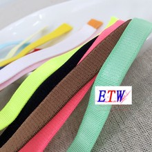 10mm light elastic strap shoulder strap pectoral girdle bra underwear elastic strap accessories multicolour elastic strap(China)